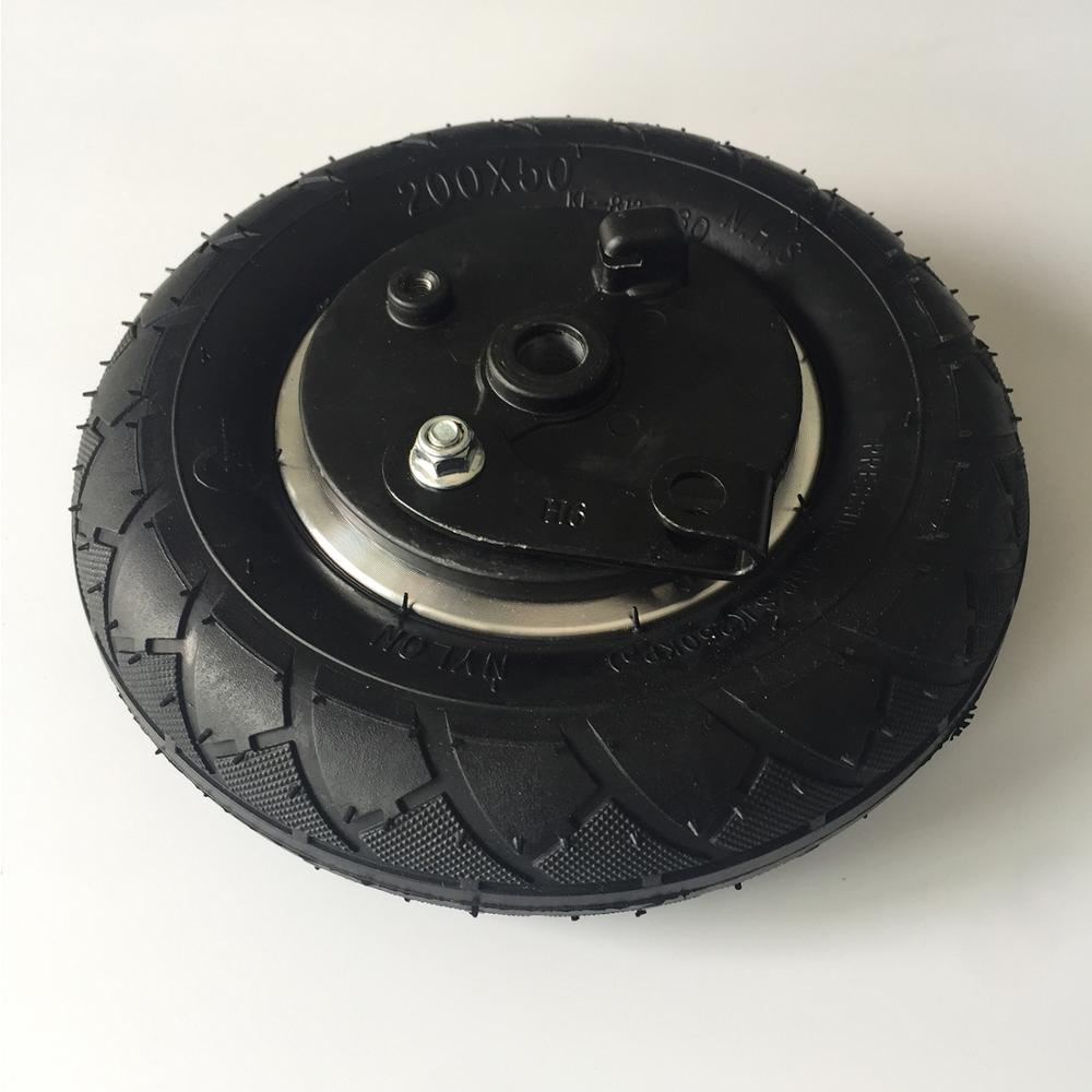 8 Inch Wheel 200x50 Tube Tire With Drum Brake 8