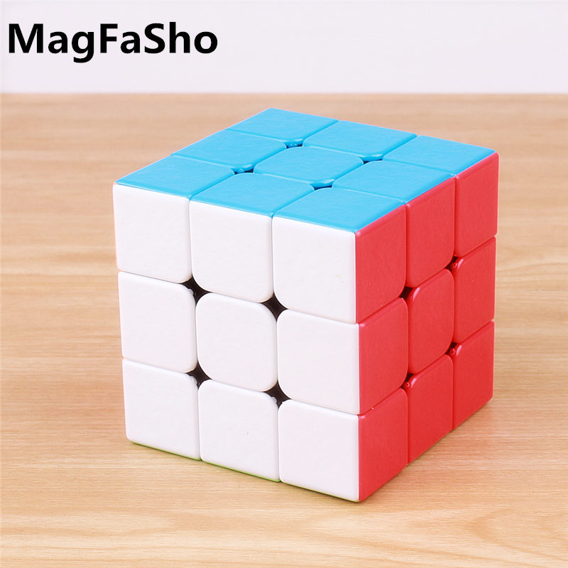 Shengshou 3x3x3 Magic Cubes GEM Stickerless Frosted Surface Professional Puzzle Three Layer Speed Cube 3 On 3 Montessori Toys