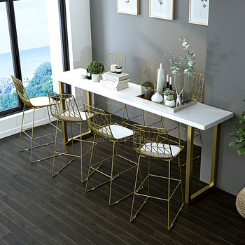 Nordic Bar Hocker Mit Zurück Moderne Einfachheit Eisen Gold Barhocker 75cm Sitzhöhe Cafe Stuhl Mit PU Pad