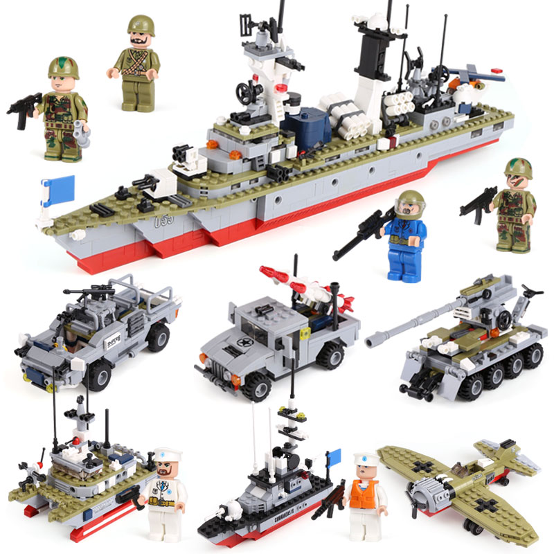 XIPOO 1230Pcs 6 IN 1 Military Series Battle Cruisers Ship Model Building Blocks Bricks Sets Educational Gift Toys for Children black pearl building blocks kaizi ky87010 pirates of the caribbean ship self locking bricks assembling toys 1184pcs set gift