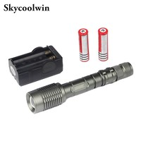 Z5 5 Mode 2000 Lumen CREE T6 LED Flashlight Zoomable Adjustable Rechargeble Flash Light Camping +2 *18650 Battery+Charger