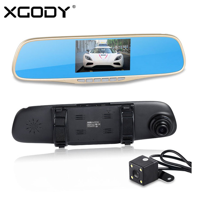 "New A430 4.3"" Car Rearview Mirror 1920x1080P Vehicle DVR Video Dash Cam Recorder Loop Recording with Rear Camera G-sensor"