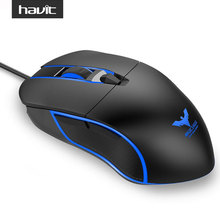 HAVIT 6 LED Light Gamer Mouse 4000 DPI Wired Optical Gaming Mouse with 6 Buttons for PC Computer Laptop Desktop Gamer HV-MS761