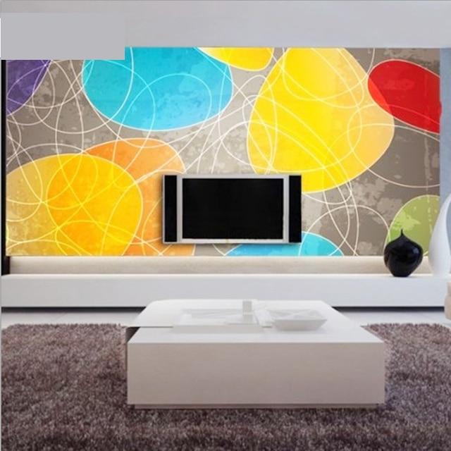 Free Shipping Large Murals Tv Backdrop Wallpaper Modern Minimalist Living Room Bright Crystal Custom Size