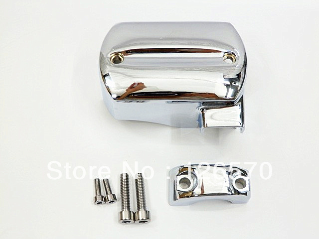 Motorcycle Chrome Master Cylinder Cover for Yamaha V-Star XVS 650 950 1100 1300 1998 1999 2000 2010 2011 2012 2013