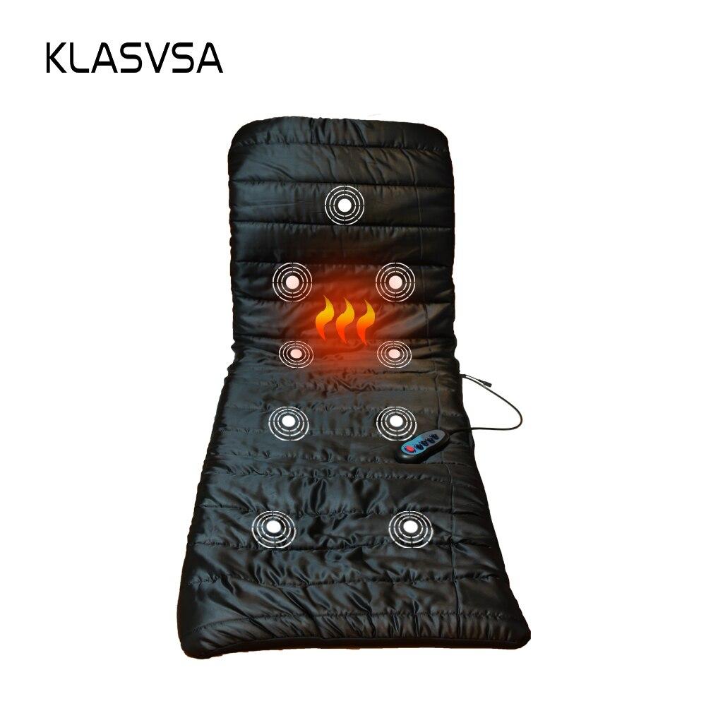 KLASVSA Vibrant De Massage Matelas DC12V De Massage Coussin Canapé Lit électronique thérapie de massage lit De Massage Relaxation massageador