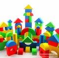 Venta caliente Niños Edificio de Ladrillo Bloque de Construcción De Espuma EVA Segura Soft Toy Kid Caso Zip 50 unids Niños Inteligencia Ejercicio