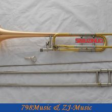 Профессиональная Роза Латунный Колокольчик теноровый Тромбон Bb/F ключи рог с чехлом