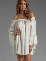 630b07f7876 Renaissance costume Sexy Off Shoulder Boho Solid Flare Sleeve chemise  medieval white peasant blouse boho shirt