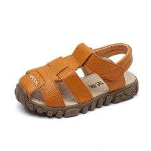 Children summer shoes white artificial leather kids girl sandals black for children yellow boy