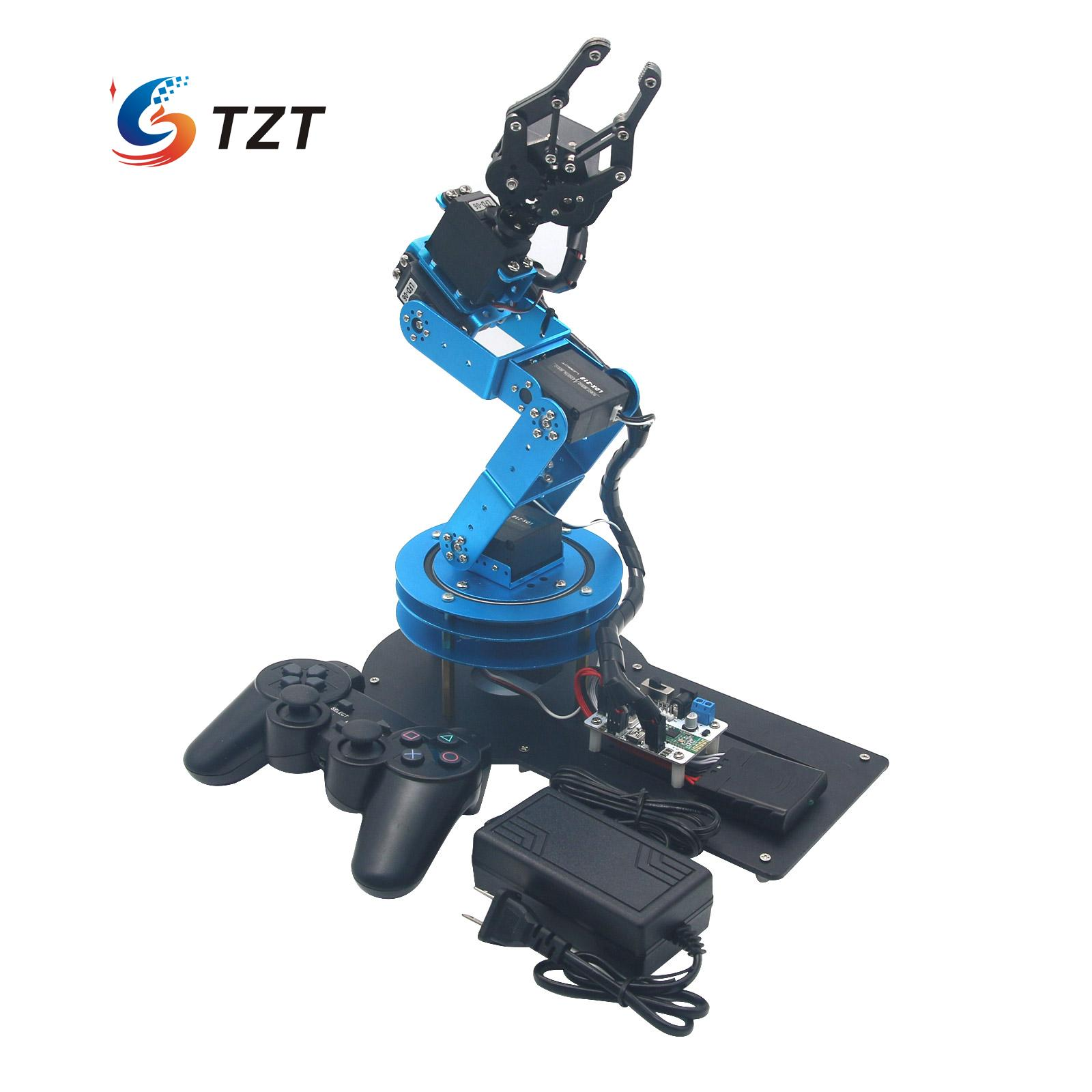 LeArm 6DOF Mechnical Robotic Arm with 6PCS Digital Servo and PS2 Handle Control for Education DIY Assembled манипулятор 6 dof 320 мм dfrobot robotic arm