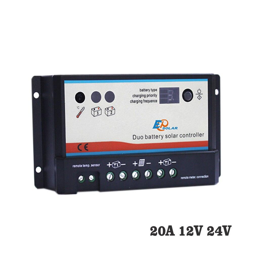 20A 12V 24V PWM EPIPDB-COM Dual Duo Two Battery epsolar Solar Charge Controller Regulators20A 12V 24V PWM EPIPDB-COM Dual Duo Two Battery epsolar Solar Charge Controller Regulators