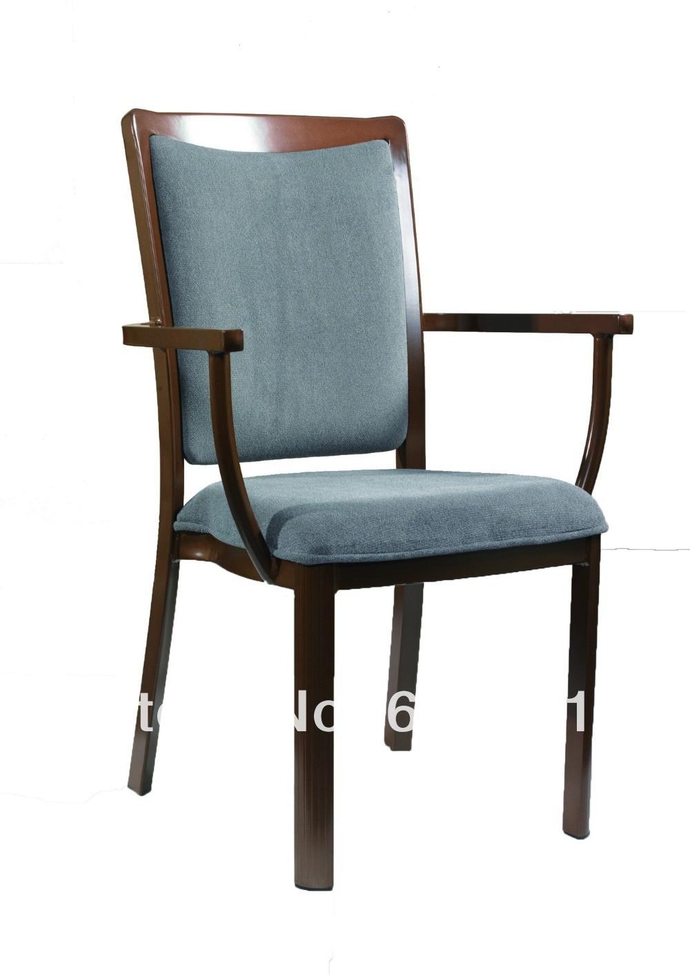 Стекируемые имитация дерева Алюминий Банкетный кресло, прочная ткань с высокой стойкостью к истиранию, удобные ...