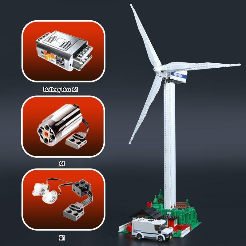 873 шт. натуральная улица серии Vestas ветровой турбины детские игрушки строительные блоки кирпичи игрушечные модели, подарки кирпичи