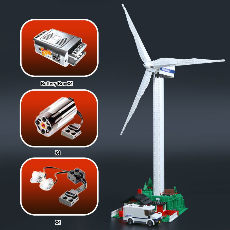Lepin 37001 873Pcs Genuine Street Series Vestas Wind Turbine Children legoinglys Building Blocks Bricks Toys Model Gifts 4999