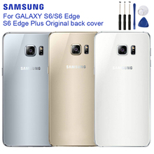 Original SAMSUNG Back Battery Cover For Samsung GALAXY S6 G920 S6 Edge G9250 S6 Edge+ S6 Edge Plus G9280 Back Rear Glass Case цена 2017