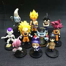NEW hot 20 pçs/set Dragon Ball Super Saiyan Goku Pilaf Whis Beerus Frieza Vegeta Buu action figure brinquedos de Natal presente(China)