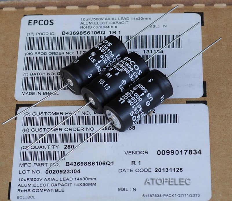 1 cái EPCOS 10 uF/500 V LL Tụ Điện Trục Hi-Fi Audio 105 Deg. C