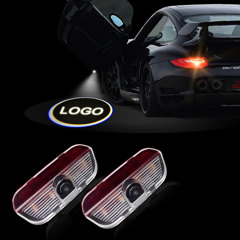 2016 Newest  2 PCS/lot Car Styling LED Welcome Logo Door Laser Shoot Light lamp For Porsche Macan Cayenne 2014-2016 High Quality