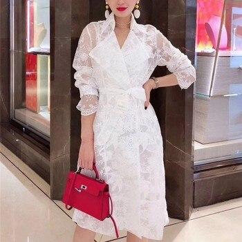 33f5e4026e1 2018 Новая Осенняя мода женские ретро платье высокого качества  взлетно-посадочной полосы вечерние элегантные длинные