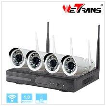 Система видеонаблюдения 4CH Wi-Fi NVR Комплект Камеры Plug & Play P2P Домашнего Использования HD 1280*720 P 20 м ночного Видения Onvif Беспроводной Набор