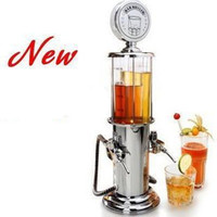 1pcs New Double GUN Silver Liquor Pump Gas Station Beer Alcohol Liquid Water Juice Wine Soda Drink Beverage Dispenser Machine