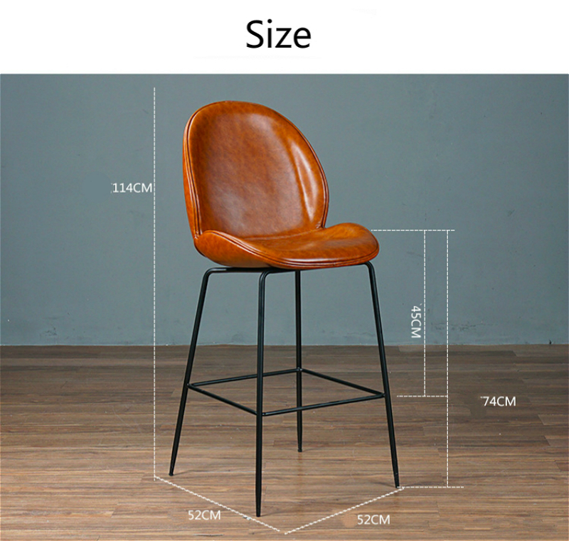 Купить с кэшбэком Style Nordic Bar Chair with Backrest Creative Coffee Shop High Stool Household Multi-function Firm Balcony Leisure Chair