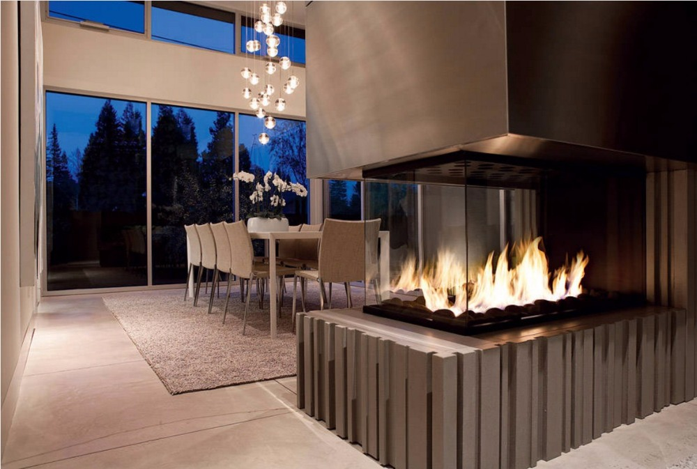 On Sale 24 Inch Fireplace Indoor With Remote Control Black Intelligent Lareira Etanol