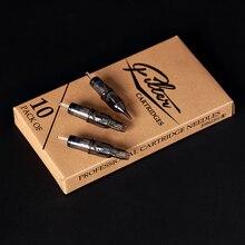 10 шт./партия, фильтр, картридж, иглы для татуировки, Круглый шейдер#12, 0,35 мм, мембранная Система, иглы для картриджа, машинная ручка