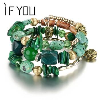 Bohemian Beads Crystal Charms Bracelets