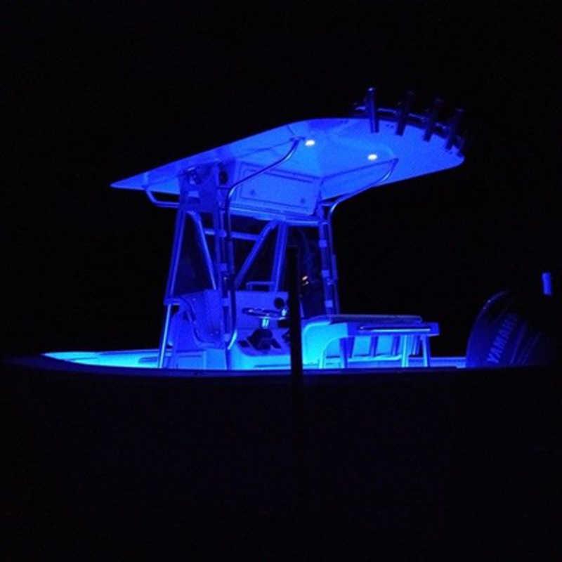 4x lampa led do łodzi wodoodporna 12v wysięgnik rozrzutnik pawęży podwodny Troll basen staw światło fontanny lampa wędkarska