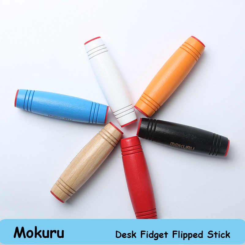 اليابانية لعبة Mokuru تململ عصا الوجه الإجهاد المخلص مكتب لعبة ضد الإجهاد سطح المكتب الأسطوانة لعبة Kururin الخشب تململ عصا Mokuru