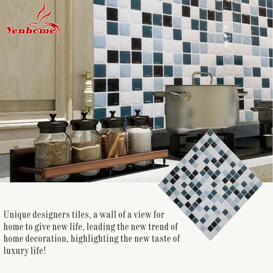 - Stick On Backsplash Tiles Self Adhesive Contact 3D Wall Stickers