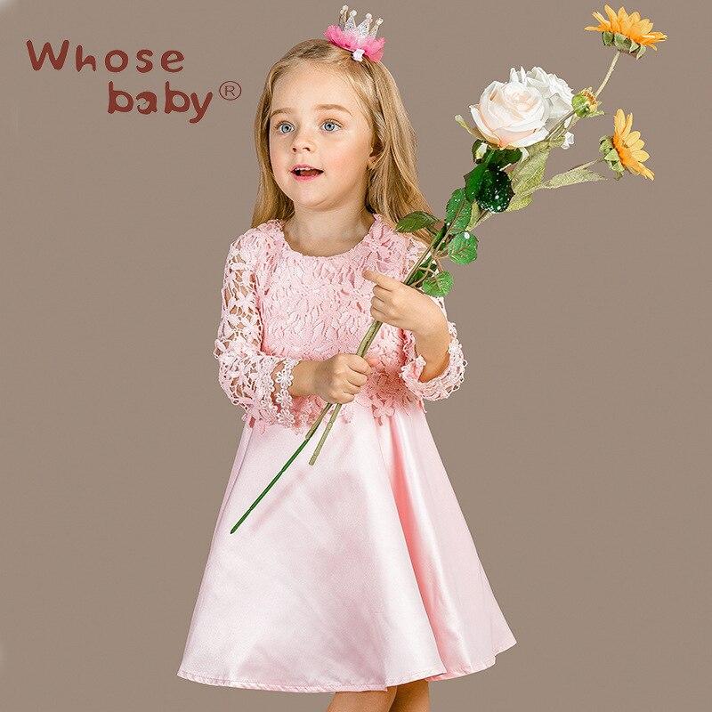 Подробнее о whosebaby Girls Dress Princess Costume 2016 Brand Kids Dresses for Girls Clothes lace Baby Girl Dress Children whosebaby baby girl dresses kids clothes 2016 brand children costumes for girls princess dress floral pattern elsa girls dress