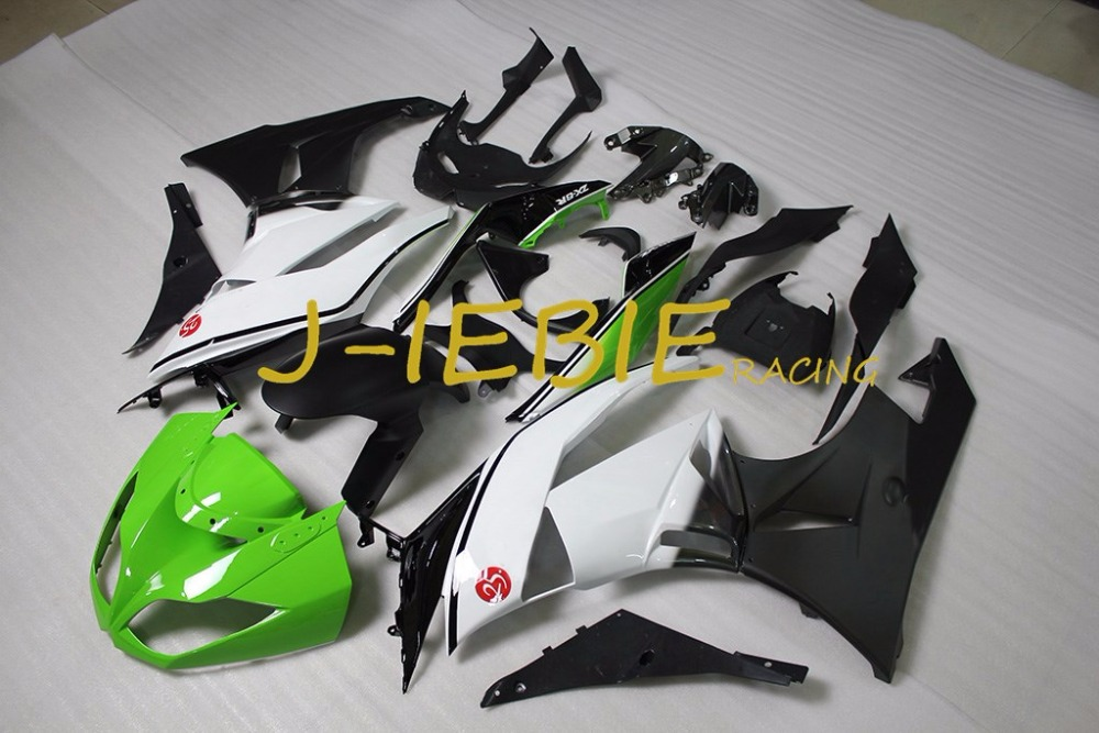 Green white black Injection Fairing Body Work Frame Kit for Kawasaki NINJA ZX6R ZX6 ZX 6 R 2009 2010 2011 2012