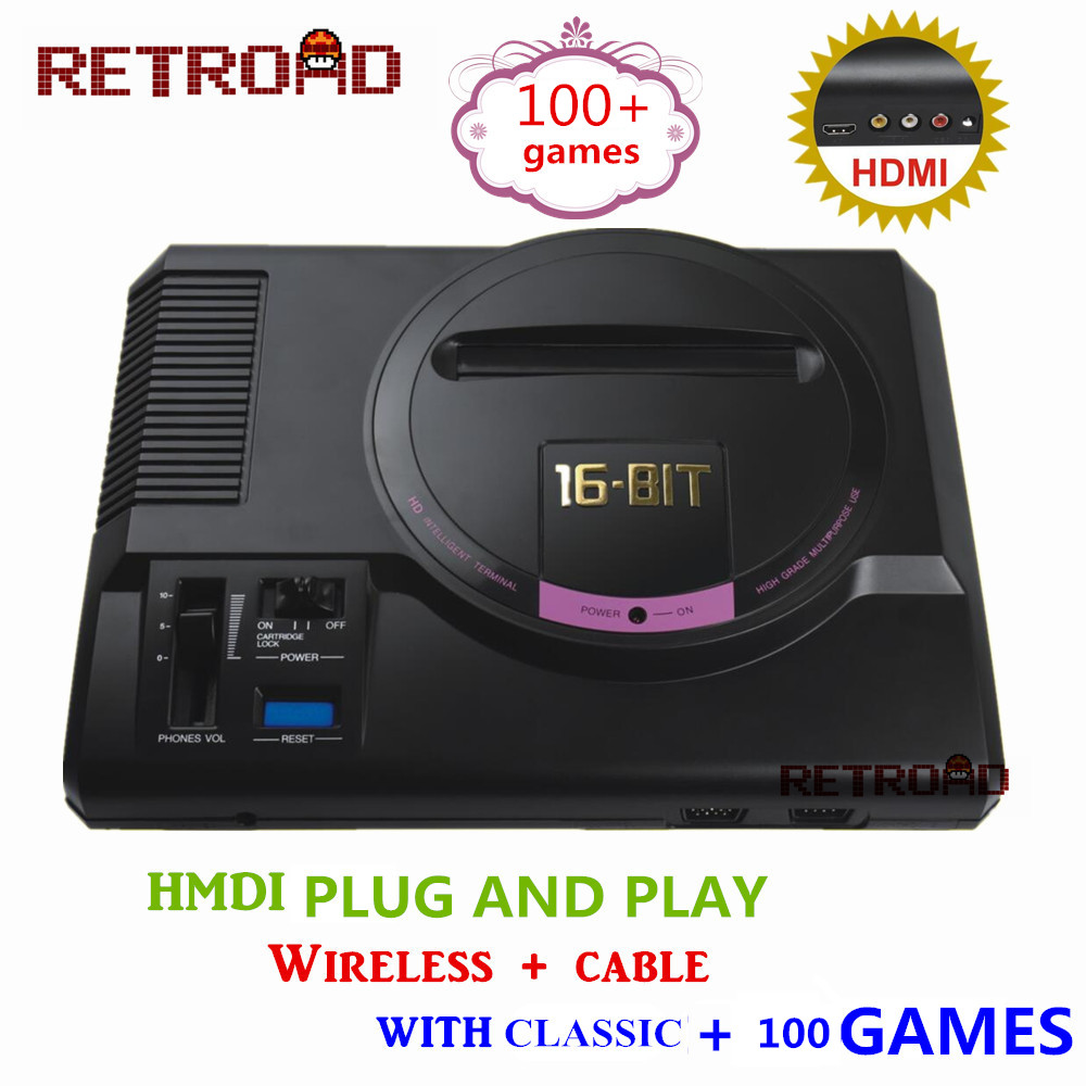 RETROAD HD Video Game Console 100 games High definition HDMI TV Out For SEGA MEGA Drive
