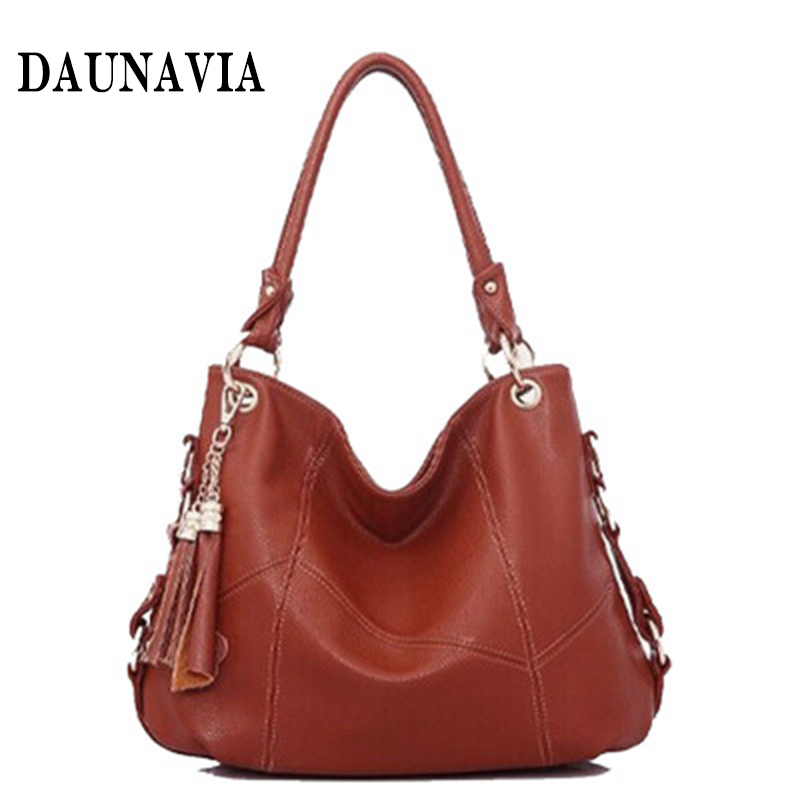купить New Female Bag Fashion Women Shoulder Tassel Bags Women Big Handbag Messenger Bag Ladies Brand High Quality Genuine Leather Bag по цене 2879.69 рублей