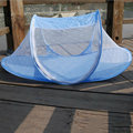 Baby Crib Tent Multi-function Portable Mosquito Net Blue Dot crib Netting Free installed Foldable Infant Cushion Mattress Pillow
