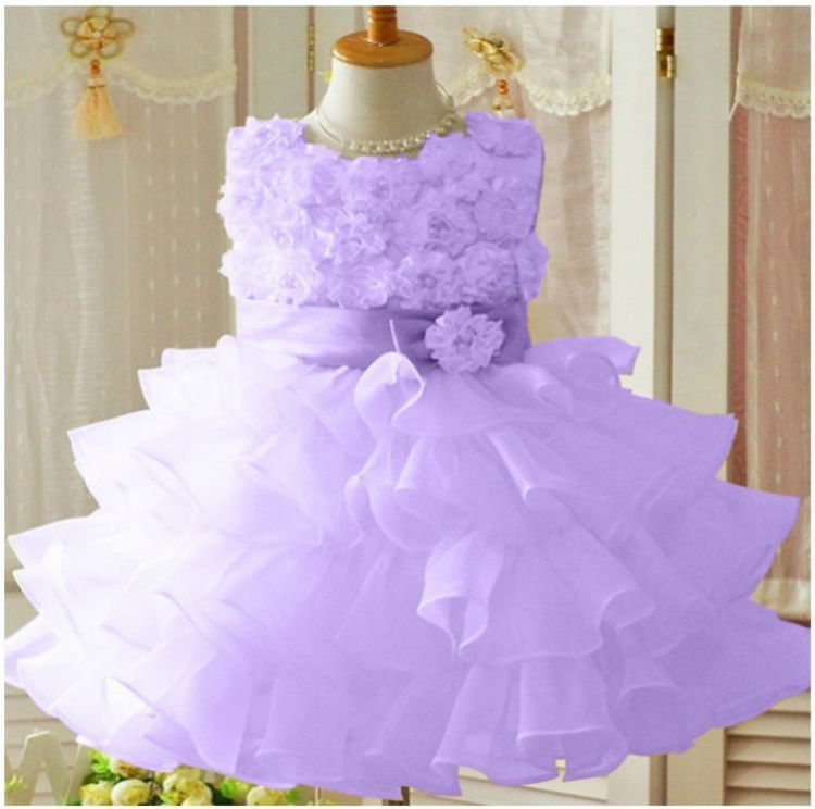 New 2017 Flower Girl Christmas Wedding Party Pageant Dress Baby ...