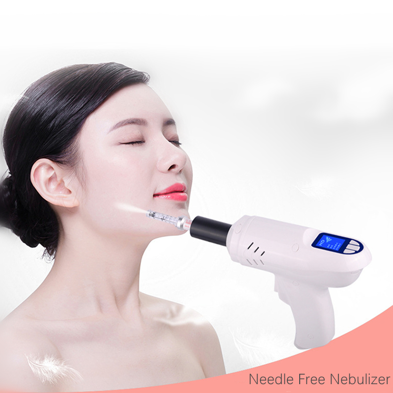 Image 4 - Electric Needle Free Nebulizer No Needle Meso therapy Skin Whitening Injection Hyaluronic Acid Micro Injector Anti Aging Machine-in Face Skin Care Tools from Beauty & Health