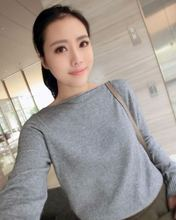 NEW Cashmere Sweater word collar pullover knitted sweater womens long sleeve casual shirt Wool