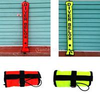 Safety High Visibility 4FT Underwater Scuba Diving Diver Below SMB Surface Marker Buoy Signal Tube with Oral Inflator