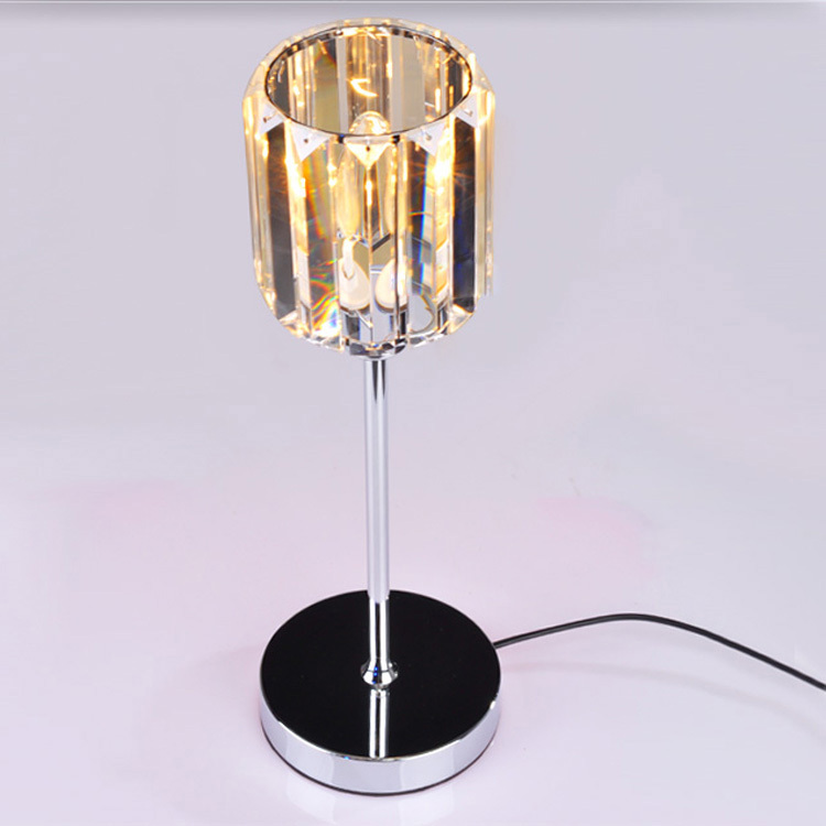 Candle Light Bulb K9 Crystal Table Lamp Modern Art Deco