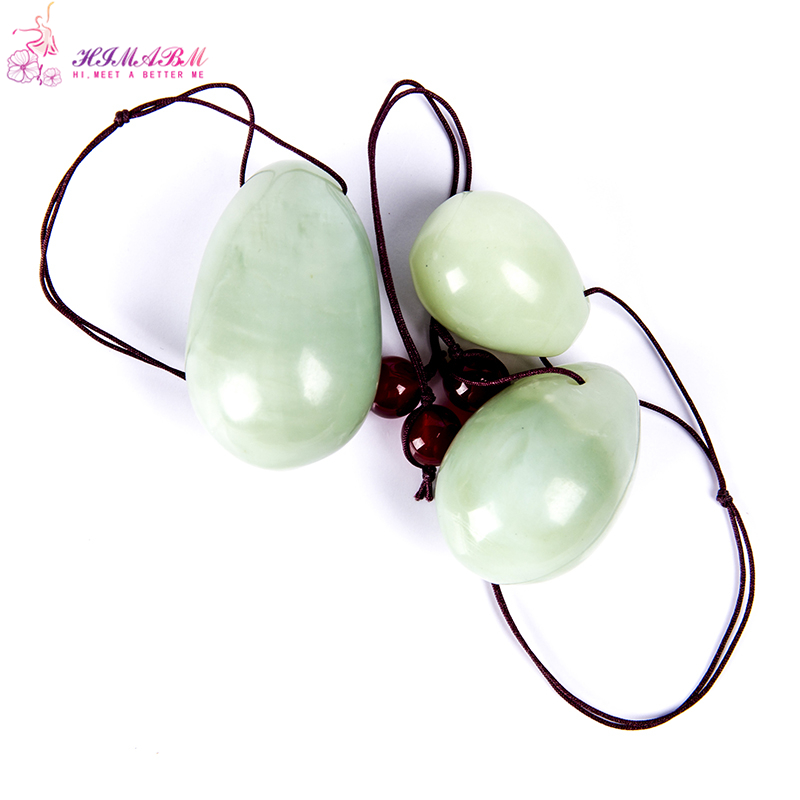 HIMABM natural jade egg for Kegel Exercise 3pcs in 1 set pelvic floor muscles vaginal exercise yoni egg ben wa ball for woman