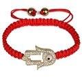 Good Gift !2017 Fashion Bangles Charm Women Bracelets Popular DIY Weave Fish Pendant Strand Bracelets Red pulsera .