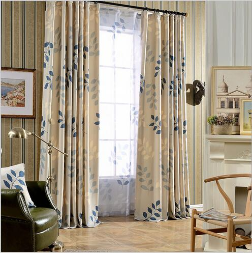 high quality pastoral floral photo print window curtain