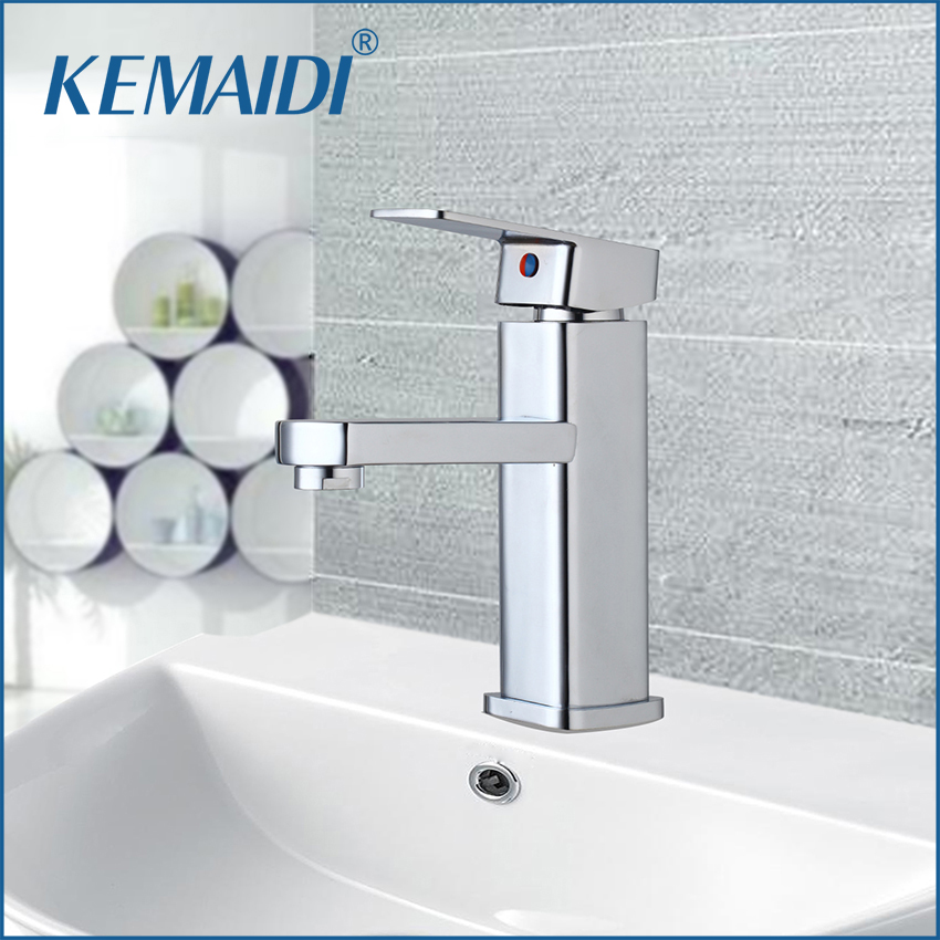 KEMAIDI RU New Arrival Bathroom Faucet Single Handle For Bathroom Sink Mixer Tap Chrome Finish  Bathroom Faucets Deck Mounted