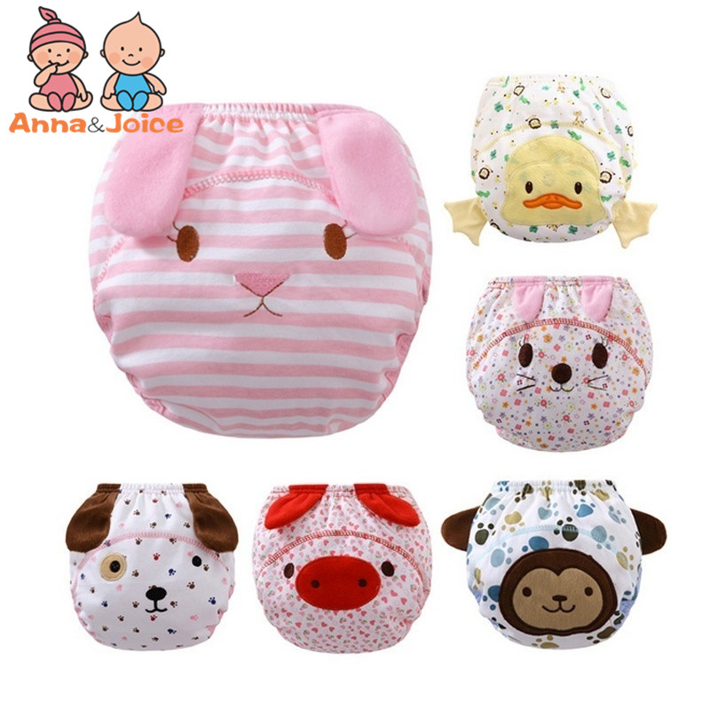 5pcs/lot New Reusable Baby Infant Nappy Cloth Diapers Soft Cotton Baby Nappy