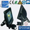 Epistar chip 10W  20W 30W 50W led flood light sensor  DC12V led outdoor lamp light PIR Motion sensor Induction Sense