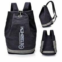 Canvas bucket gym bag unisex training sports backpack basketball football bag large capacity travel storage handbag school bags